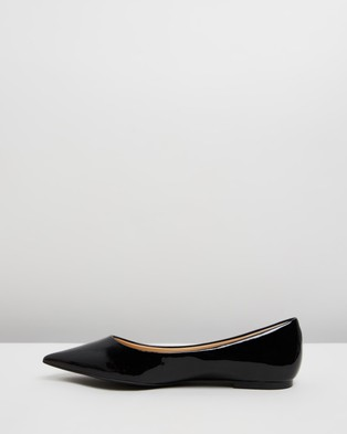 Atmos&Here Kate Leather Flats - Ballet Flats (Black Patent Leather)