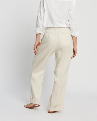 Assembly Label Tailored Linen Pants - Pants (Ivory)