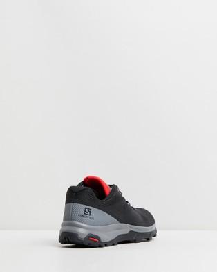 Salomon Outline   Men's - Outdoor Shoes (Black, Quiet Shade & High Risk Red)