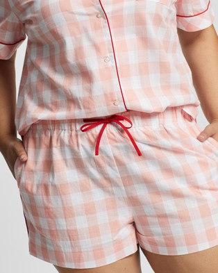 Atmos&Here Curvy Short Cotton PJ Set - Two-piece sets (Pretty Pink)