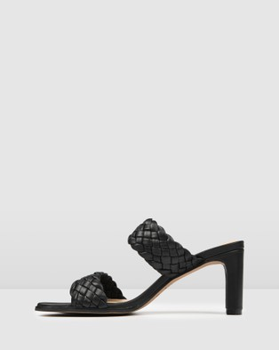 Jo Mercer Nico Mid Heel Sandals - Mid-low heels (Black)