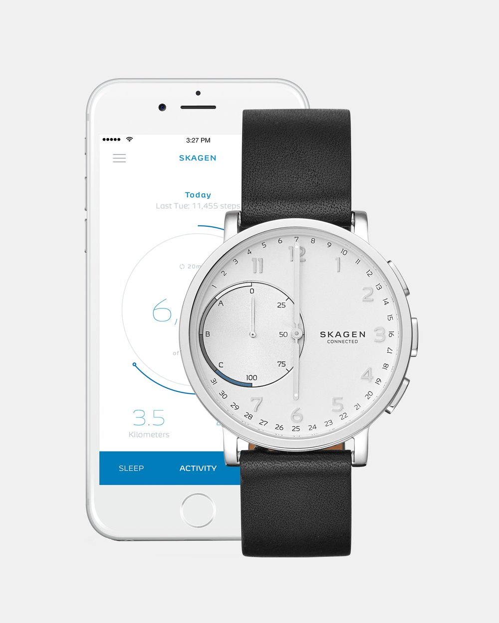 Hybrid Smartwatch Hagen Connected Black By Skagen Online The