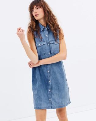 Levi's – 70s Western Dress – Dresses (Mid Blue)