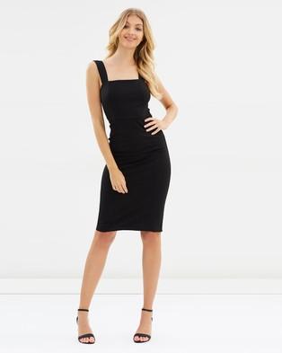 Atmos & Here – Faith Pencil Dress – Bodycon Dresses Black