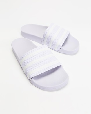 adidas Originals Adilette   Women's - Sandals (Purple Tint, Footwear White & Purple Tint)