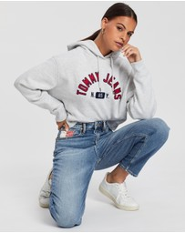 Tommy Jeans - Embroidered Logo Cropped Hoodie