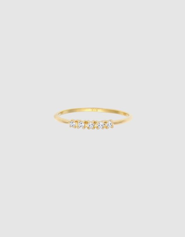 Women Ring Microsetting Topaz Gemstone Valentin Solid 375 Yellow Gold