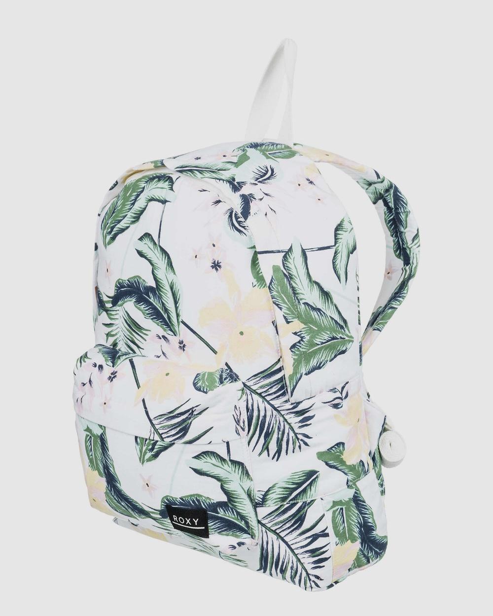 Roxy Sugar Baby 16L Small Backpack Backpacks BRIGHT WHITE PRASLIN