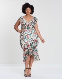 Cooper St - CS Curvy Salsa Frill Sleeve Midi Dress