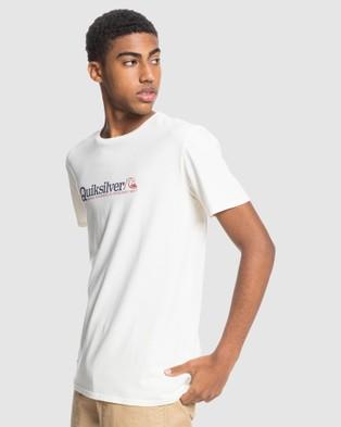 Quiksilver - Mens New Endings Organic T Shirt - T-Shirts & Singlets (Snow White) Mens New Endings Organic T-Shirt