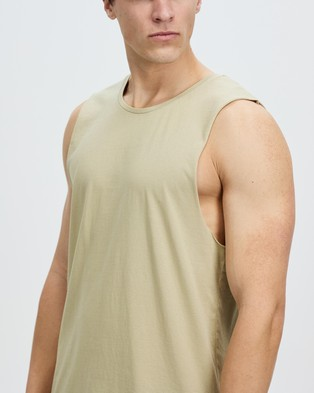 Staple Superior Organic Staple Organic Vintage Muscle - T-Shirts & Singlets (Light Khaki)
