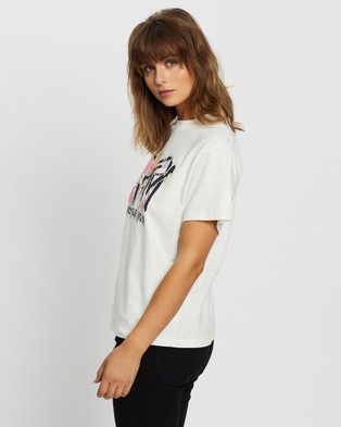 Rolla's MTV Tie Dye Tee - T-Shirts & Singlets (White)