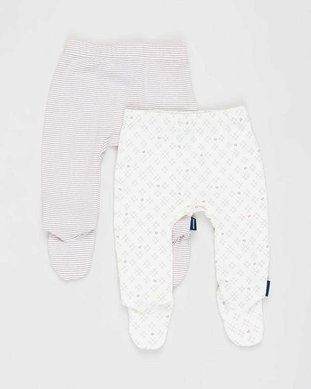 Pappe 2 Pack Bliss Footed Leggings Babies Pants Elderberry & Sassafras Hearts&Crosses 2-Pack