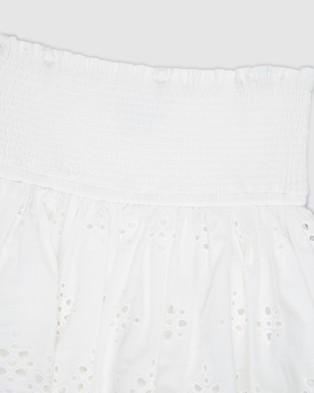 Decjuba Kids Sienna Broderie Skirt   Kids Teens - Skirts (White)