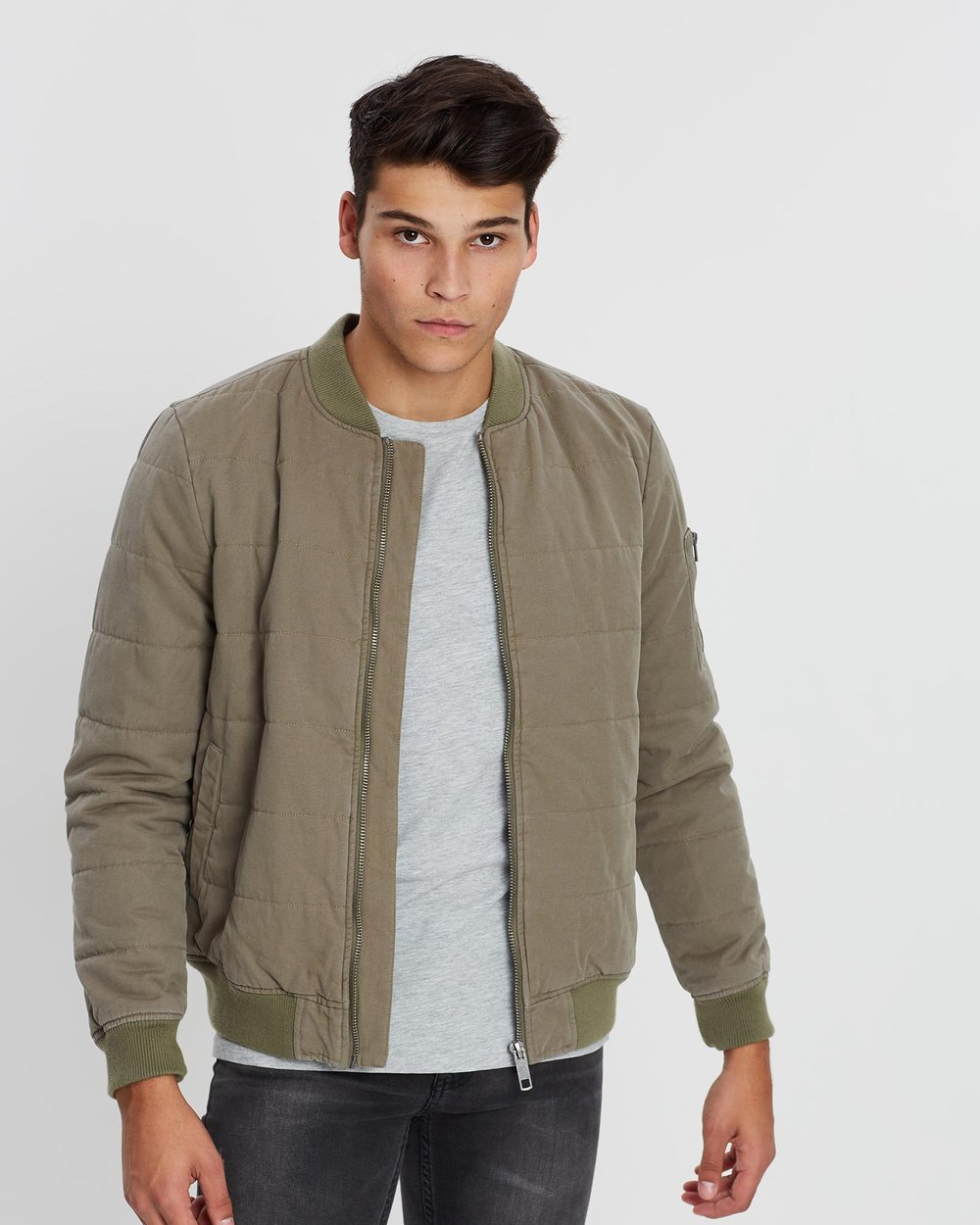ad9453c0e2d Explosive Quilted Canvas Bomber Jacket by Nena & Pasadena Online | THE  ICONIC | Australia