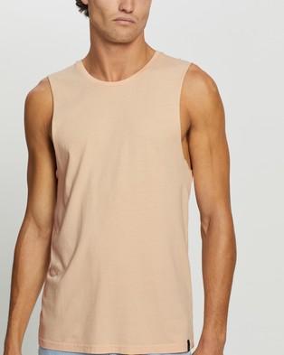 Staple Superior Organic Staple Organic Vintage Muscle - T-Shirts & Singlets (Pink)