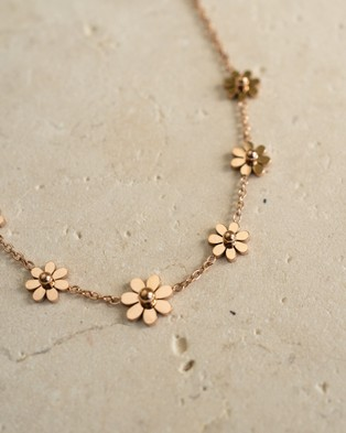 Hunter x Hunter Rose Gold Daisy Chain Necklace - Jewellery (Gold)