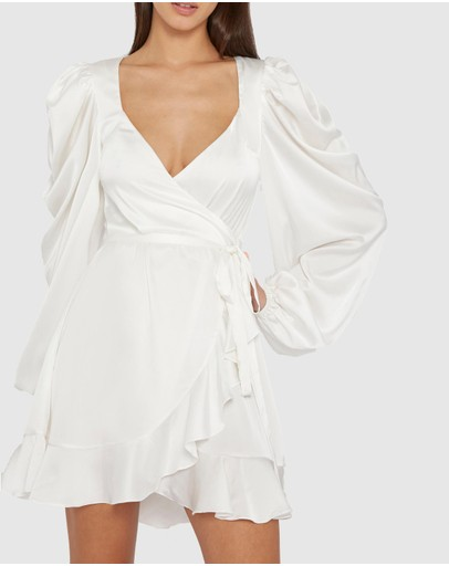BY JOHNNY. - Lenny Frill Wrap Mini Dress