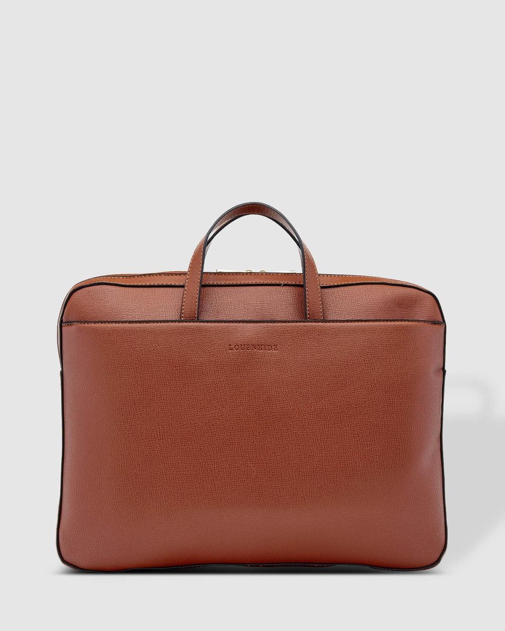 Louenhide Orleans Laptop Bag Bags Tan Australia