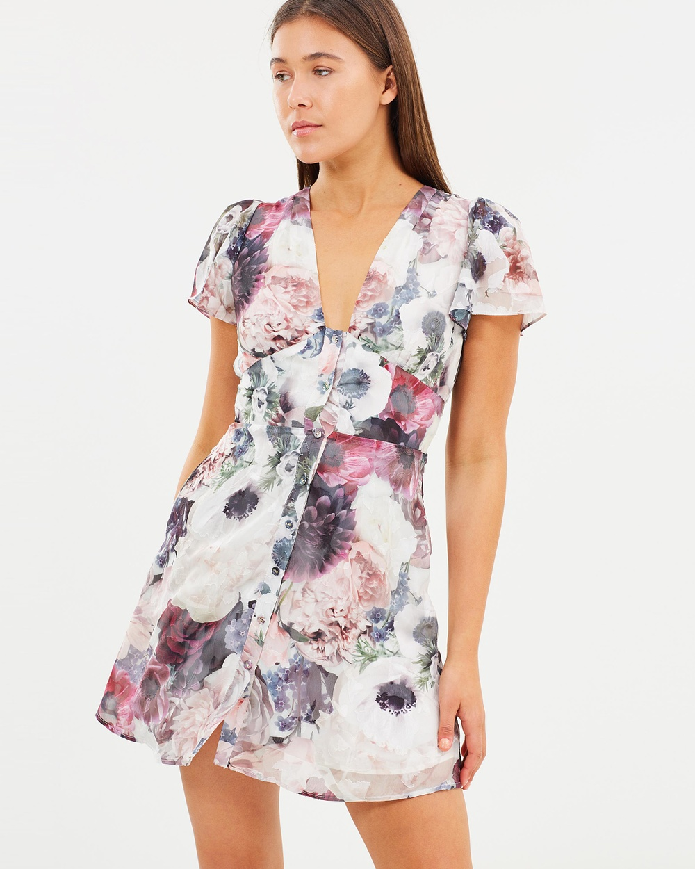 We Are Kindred Lou Lou Cut Out Back Dress Printed Dresses Devotion Lou Lou Cut Out Back Dress