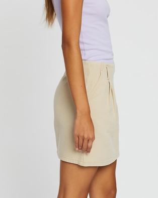 TWIIN Backup Mini Skirt - Skirts (Tan)