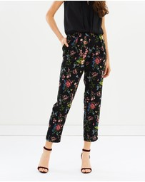 Oasis - Royal Worcester Print Trousers