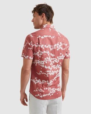 SABA Alberto Short Sleeve Classic Shirt - Casual shirts (orange)