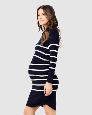 Ripe Maternity - Valerie Up Down Nursing Tunic - Dresses (Stripe - Print) Valerie Up Down Nursing Tunic
