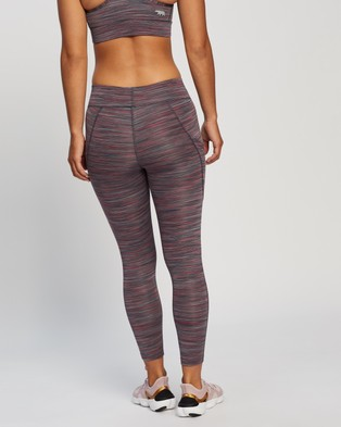 Running Bare Ab Waisted Flex Zone 7 8 Tights - 7/8 Tights (Shiraz Space Dye)