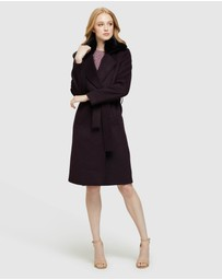 Oxford - Fallon Detachable Fur Collar Coat