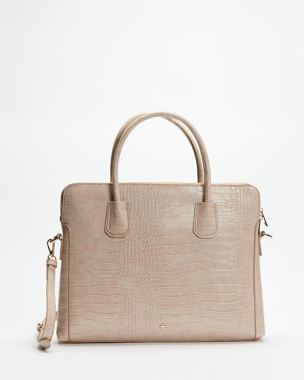 PETA AND JAIN Hustle Laptop Bag Handbags Nude Croc