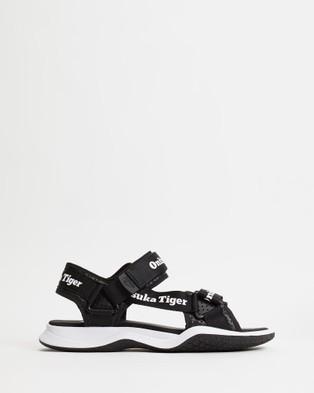 Onitsuka Tiger Obhori Strap Sandals Unisex Casual Shoes Black & White