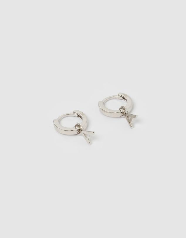 Women Alphabet Letter A Huggie Earrings