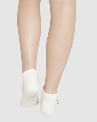 Boody Organic Bamboo Eco Wear 4 Pack Active Sports Sock - Socks & Tights (White)