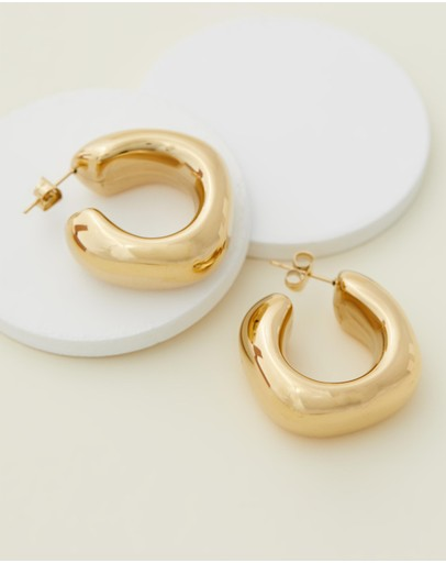 Reliquia Jewellery - Trending Upwards Gold Hoop Earrings