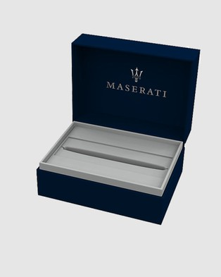 Maserati Jewels Sporty Stainless Steel Textured Ballpoint Pen All Stationery Black