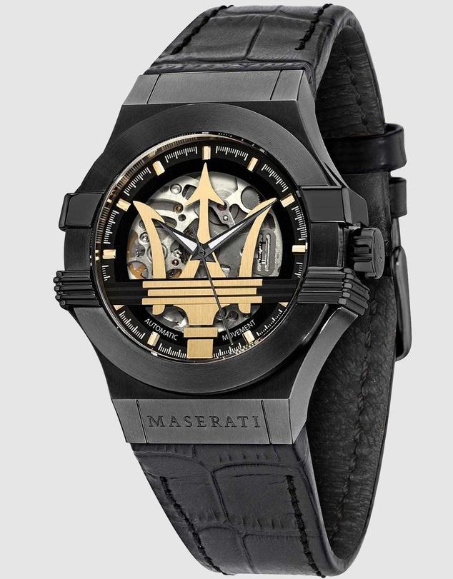 Men Potenza 42mm Automatic Black Watch