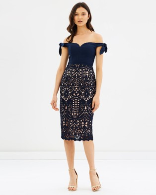 Love Honor – Audra Lace Dress French Navy