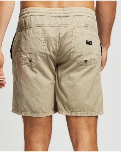 St Goliath 2-pack Fusion Pull On Shorts Tan & Light Blue