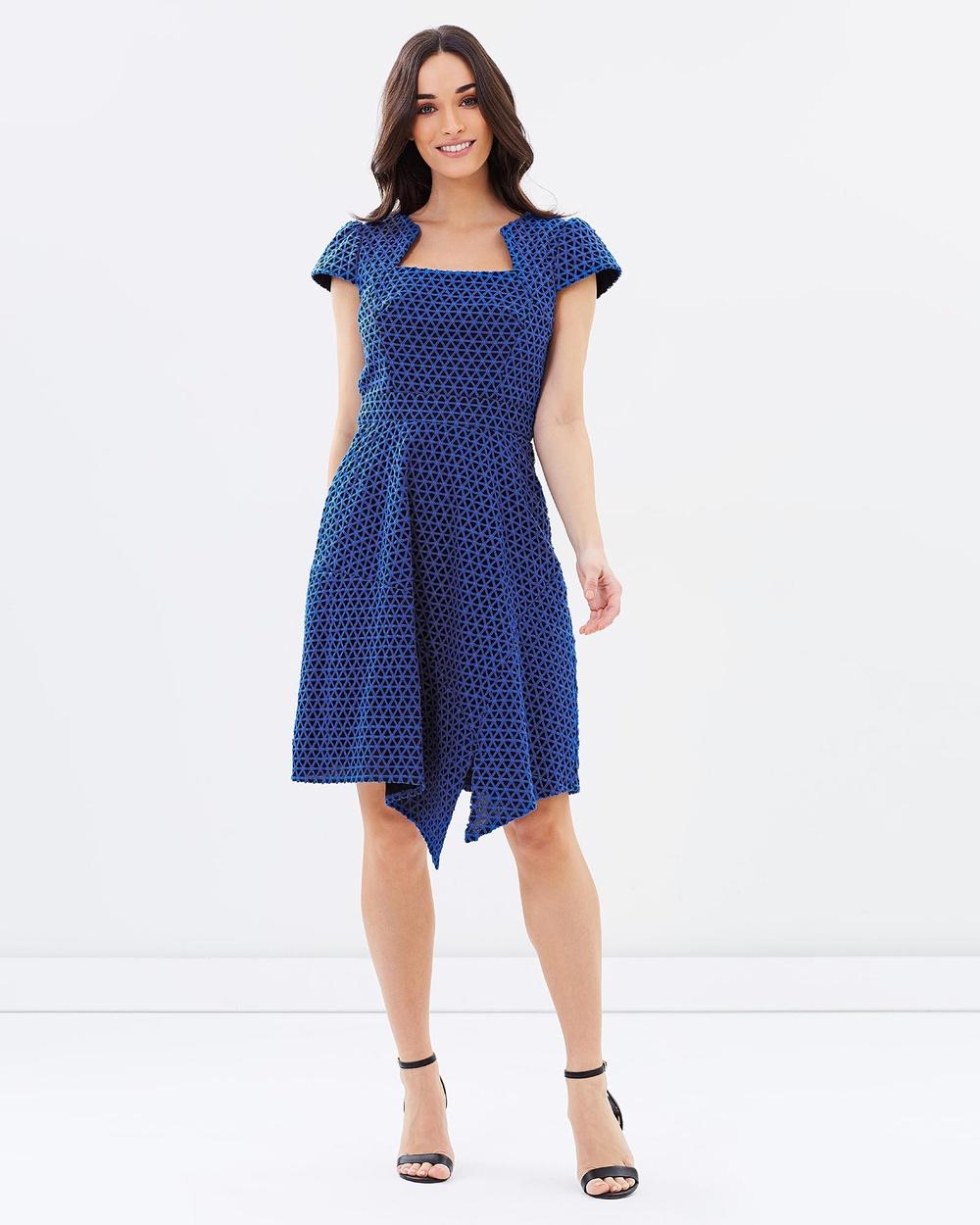 Pink Ruby Blue Illyra Dress