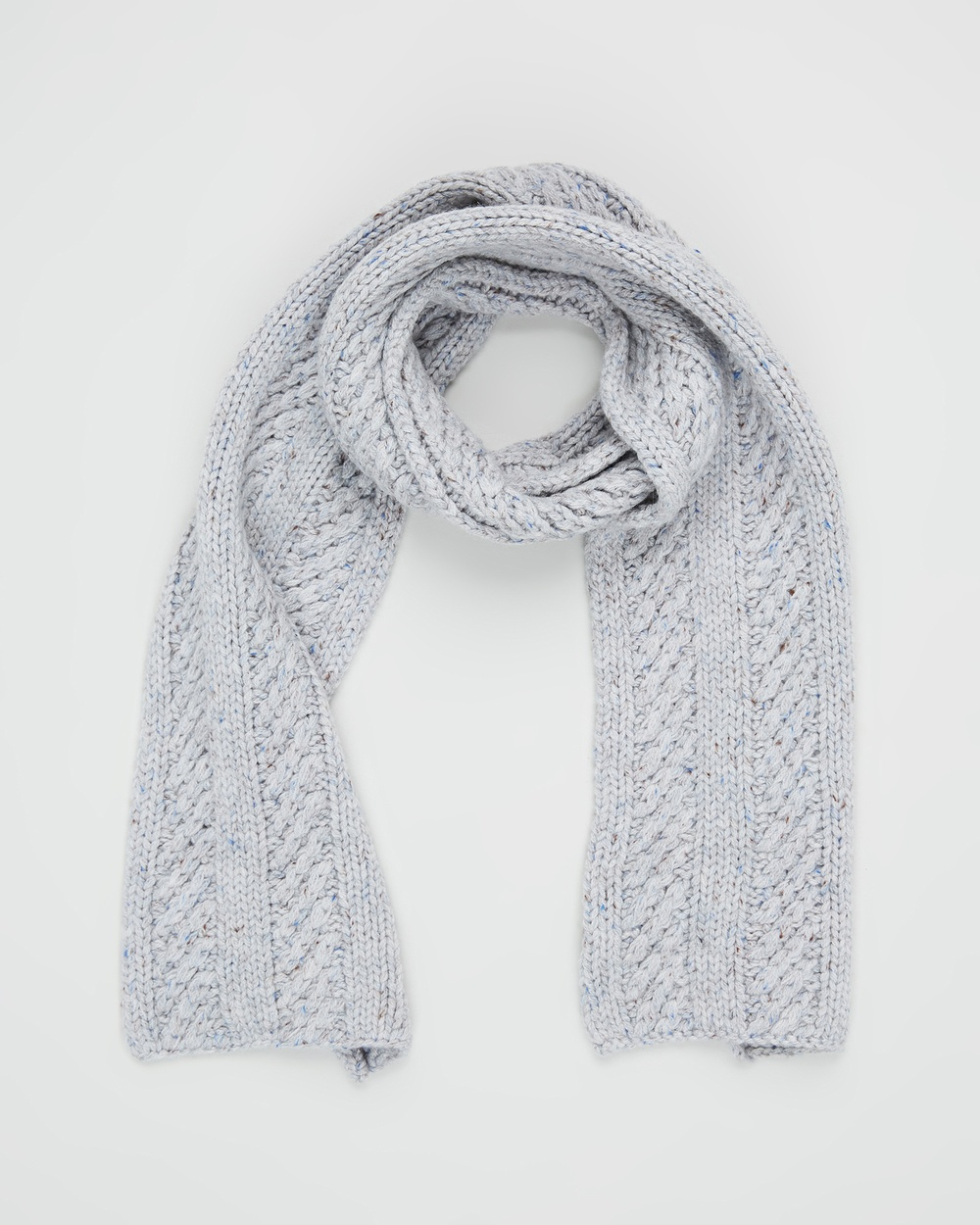 Pappe Orkney Knitted Scarf Scarves & Gloves Grey
