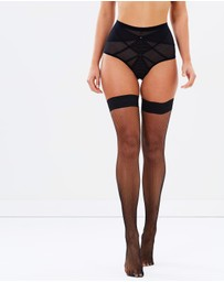 Ann Summers - Micro Fishnet Seamed Hold Up Stockings
