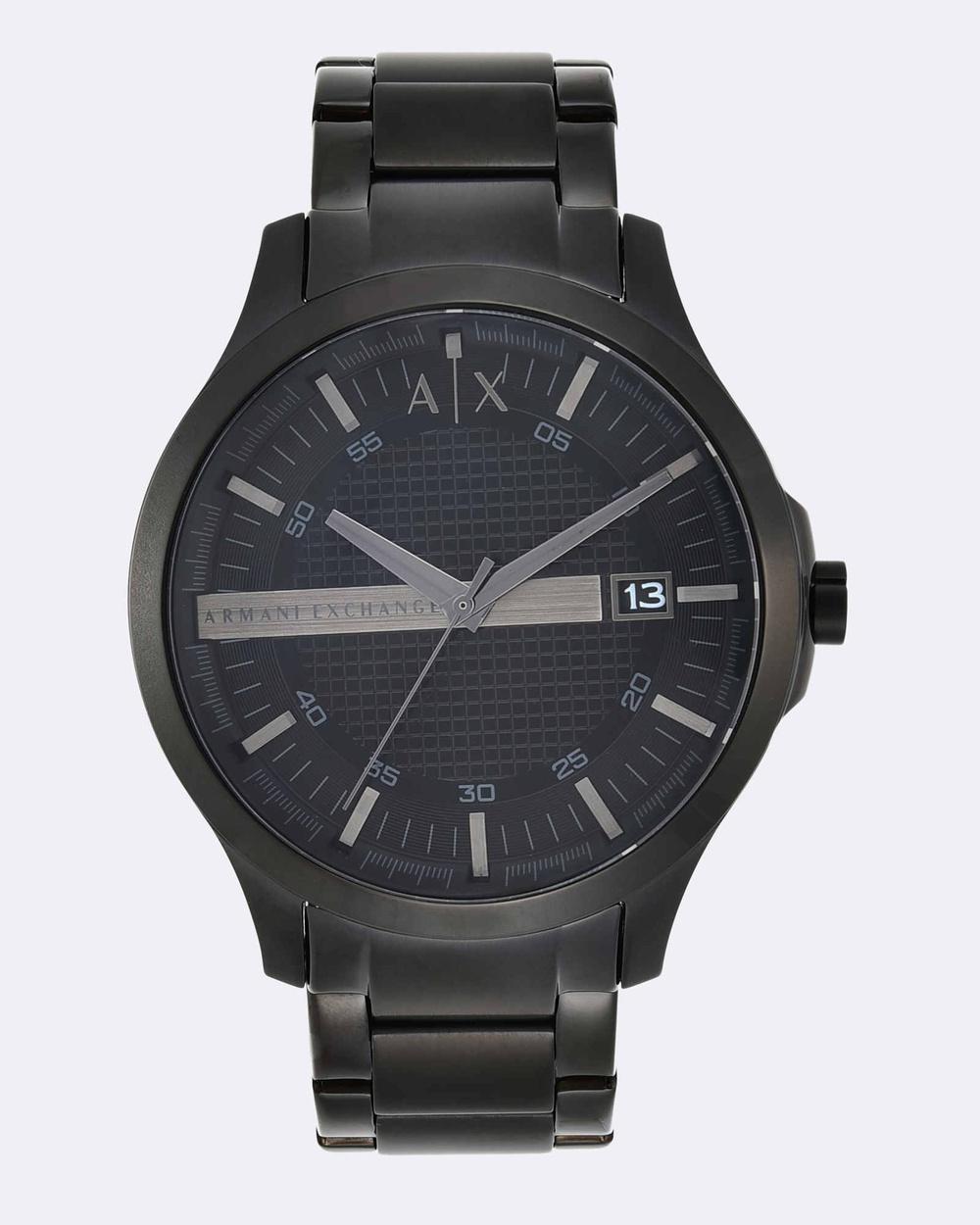 Armani Exchange Black Analogue Watch AX2104 Watches Black