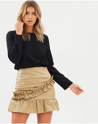 Atmos&Here - ICONIC EXCLUSIVE - Manolo Ruffle Hem Skirt