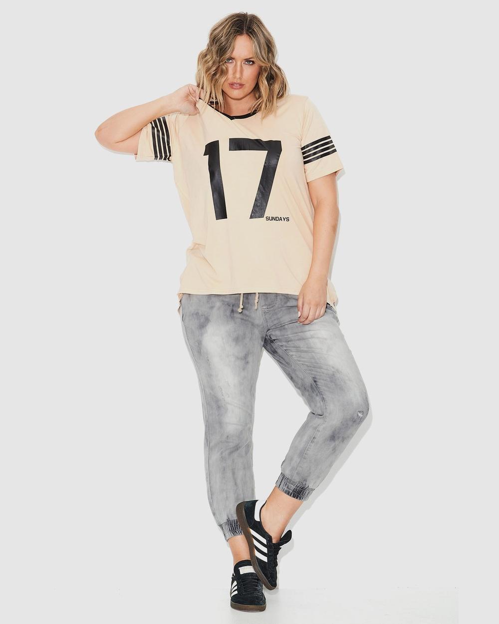 17 Sundays Retro Sports Tee Short Sleeve T-Shirts Natural