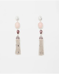 Moonshadow Grand Tassel Earrings