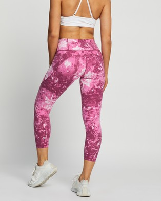 Sweaty Betty Power Workout 7 8 Leggings - 7/8 Tights (Pink Tie Dye)