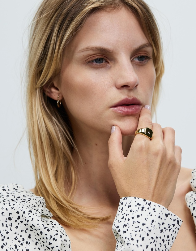 Women Gold Plated Silver Bounty Ring