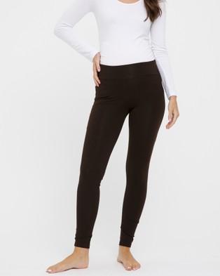 Bamboo Body Soft Bamboo Leggings - Pants (Chocolate)