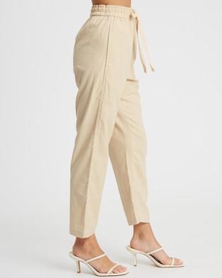 Calli Linen Blend Pants - Sweatpants (Sand)